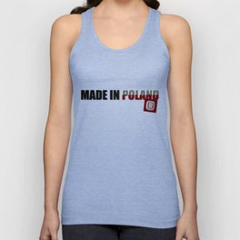 Made in Poland, patriotic shirts, country proud tee shirt design v.2 shadowed Unisex Tank Top