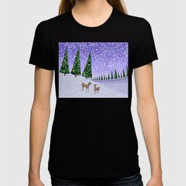 deer in the winter woods T-shirt