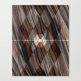 Geometric Abstract - Modern Abstract - Geometric Pattern - Pattern Design - Brown - Wood Grains Canvas Print