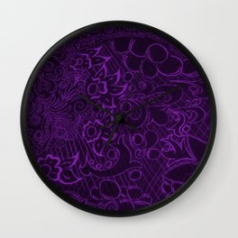Florist Night Shadow Wall Clock