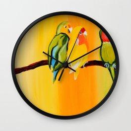 Sweetheart Birds Wall Clock