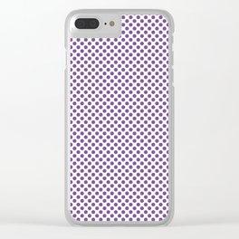 Royal Lilac Polka Dots Clear iPhone Case