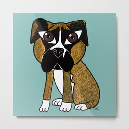 Greta, the dog that stares at you Metal Print