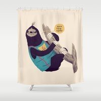 goonies Shower Curtains featuring sloth by Louis Roskosch