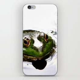 Frog peeking out of the water iPhone Skin