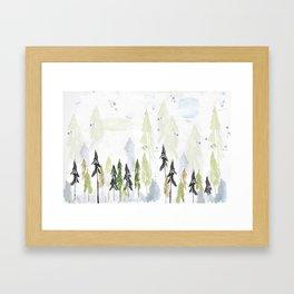 Into the woods woodland scene Framed Art Print