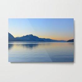 Reflection - Thunersee, Interlaken Metal Print
