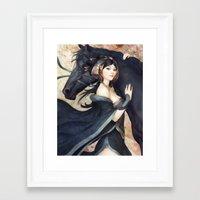 artgerm Framed Art Prints featuring Pepper Empress by Artgerm™