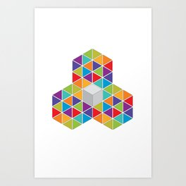 Abstract Triangle 1 Art Print