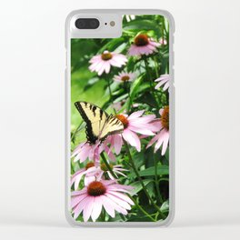 flower and butterfly Clear iPhone Case