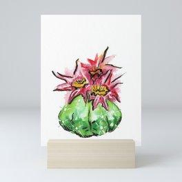 Flowering Cactus Watercolor Mini Art Print