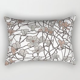 pattern of branches in pastel colors art Rectangular Pillow