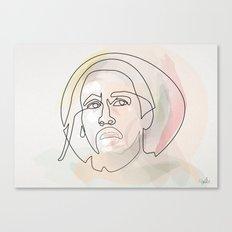 One line B.Marley Canvas Print