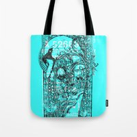 swan Tote Bags featuring Swan by Tshirt-Factory