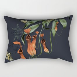 Carnivorous Pitcher Plant Rectangular Pillow
