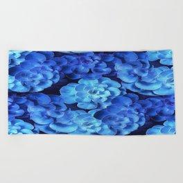 Succulent Plants In Blue Tones #decor #society6 #homedecor Beach Towel