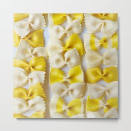 White and Yellow Bows Metal Print