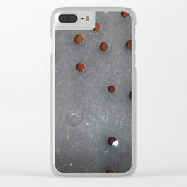 Antique skimmer holes Clear iPhone Case
