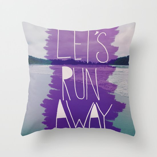 Let's Run Away: Manuel Antonio, Costa Rica Throw Pillow