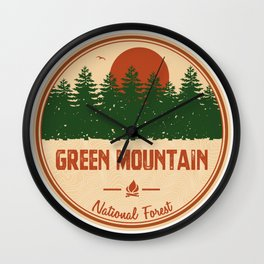 Green Mountain National Forest Wall Clock