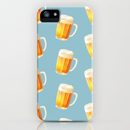 Ice Cold Beer Pattern iPhone Case