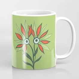 Cute Eyes Flower Monster Coffee Mug