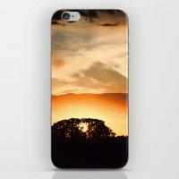 swedish iPhone & iPod Skins featuring Swedish sunset by Mark W