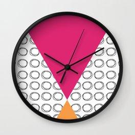Abstract Circles and Triangles Wall Clock