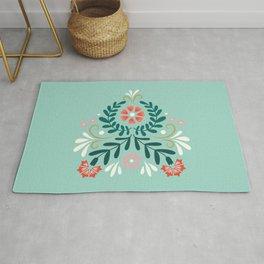 Floral Folk Pattern Rug