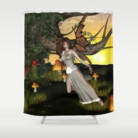elf Shower Curtains featuring Beautiful  elf by nicky2342
