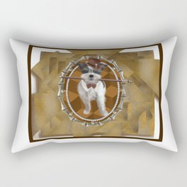 Steam Terrier Rectangular Pillow
