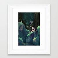 princess mononoke Framed Art Prints featuring Princess Mononoke by IllustrateKate