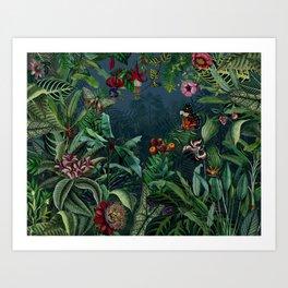 Midnight rainforest I Art Print