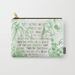 """""""Conquest of the Useless"""" by Werner Herzog Print (v. 2) Carry-All Pouch"""