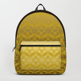 Yellow weaves pattern Backpack