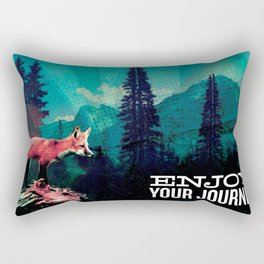 Enjoy Your Journey Adventure Fox Rectangular Pillow