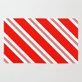 Candy Cane Stripes Holiday Pattern Rug