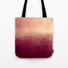 Moody Ocean (Red Version) Tote Bag