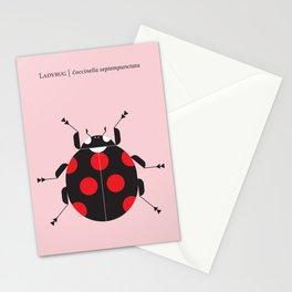 Ladybug Pink Stationery Cards