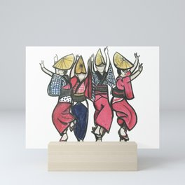 Awa Dancers Mini Art Print
