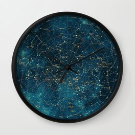 Under Constellations Wall Clock