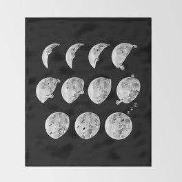 lunar phases of sleep Throw Blanket