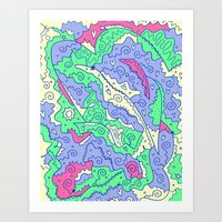 hufflepuff Art Prints featuring Hufflepuff by Amanda Trader