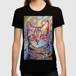Olivia ... abstract pet animal cat kitty art T-shirt