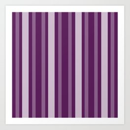 Purple Victorian Lady Stripe Art Print