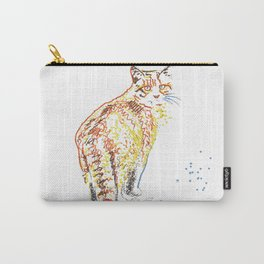 Whimsical Alley Cat Art Carry-All Pouch