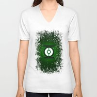 green lantern V-neck T-shirts featuring Green Lantern by Some_Designs
