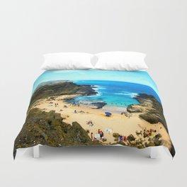 Halona Beach Cove ... By LadyShalene Duvet Cover