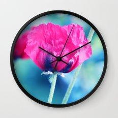 Poppy Romance Wall Clock