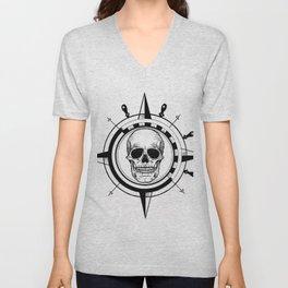 Skull Compass Unisex V-Neck